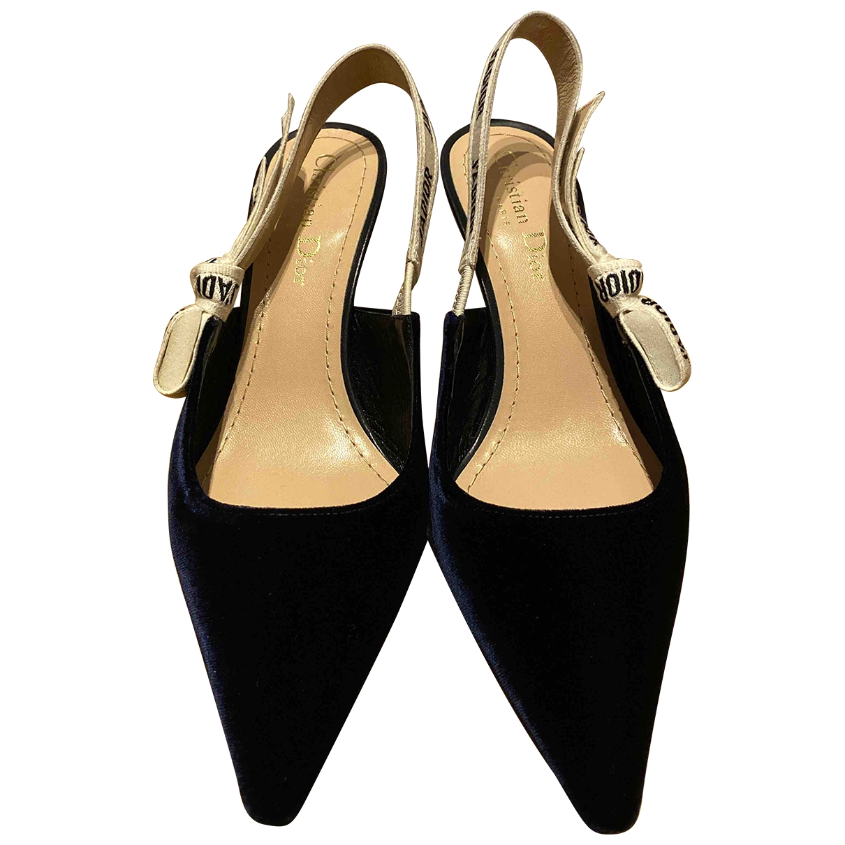 Dior - Escarpins Jadior pour femme en velours - bleu