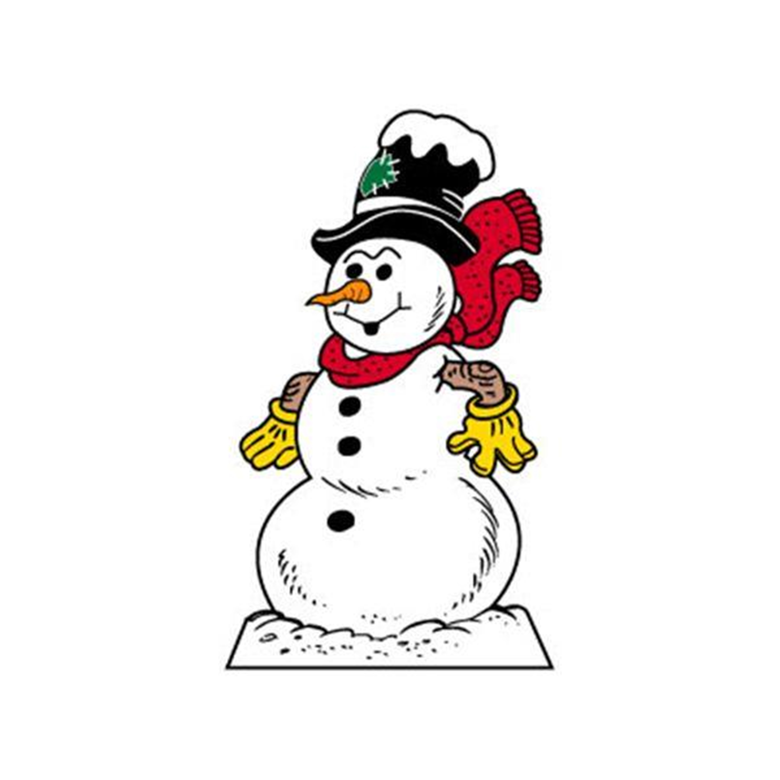 Woodworking Project Paper Plan to Build Large Snowman