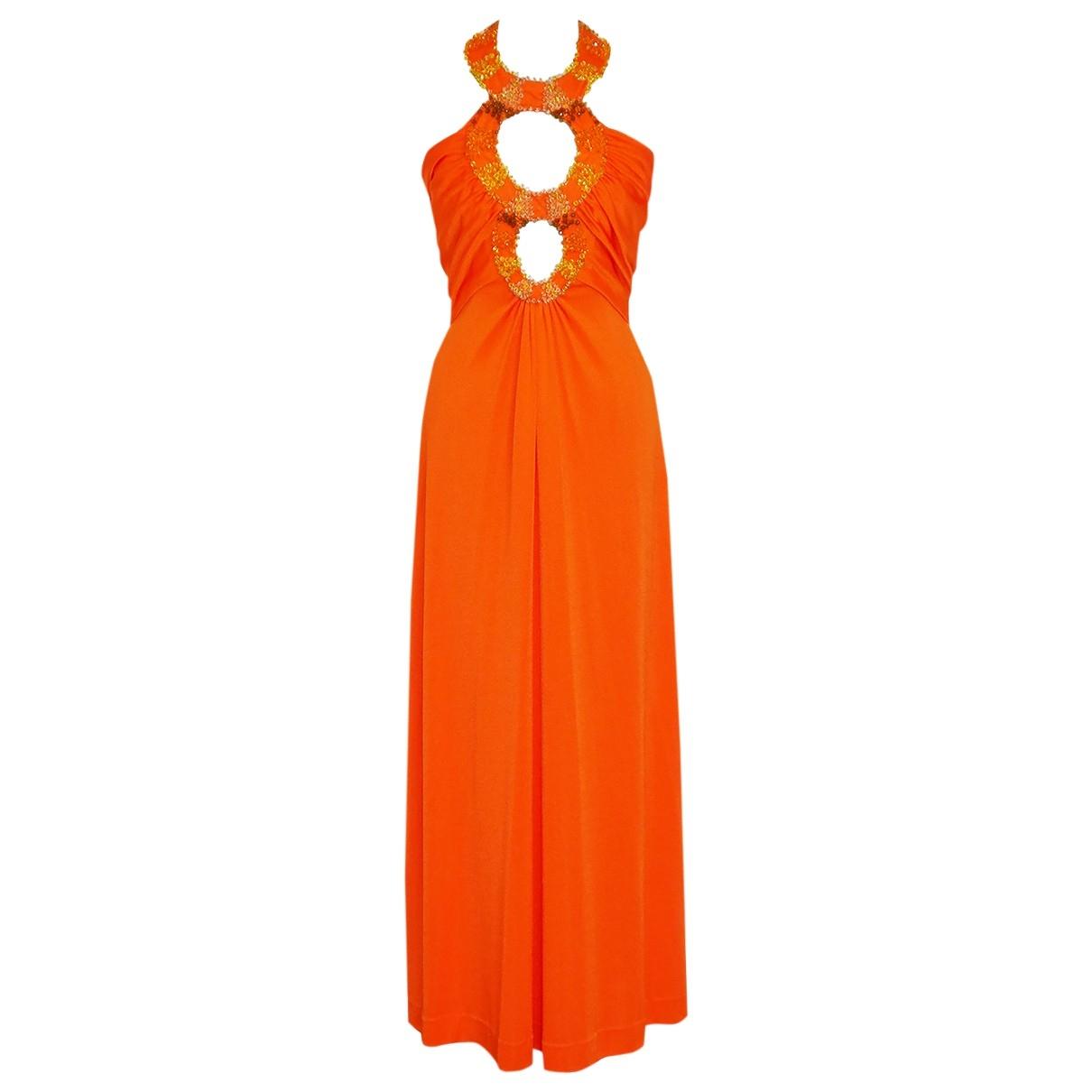 Loris Azzaro \N Kleid in  Orange Synthetik