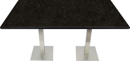 G206 24X30-SS05-17H 24x30 Black Galaxy Granite Tabletop with 17