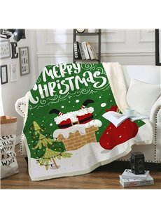3D Christmas Blanket Flannel Blankets Thicken Air Conditioning Microfiber Blankets