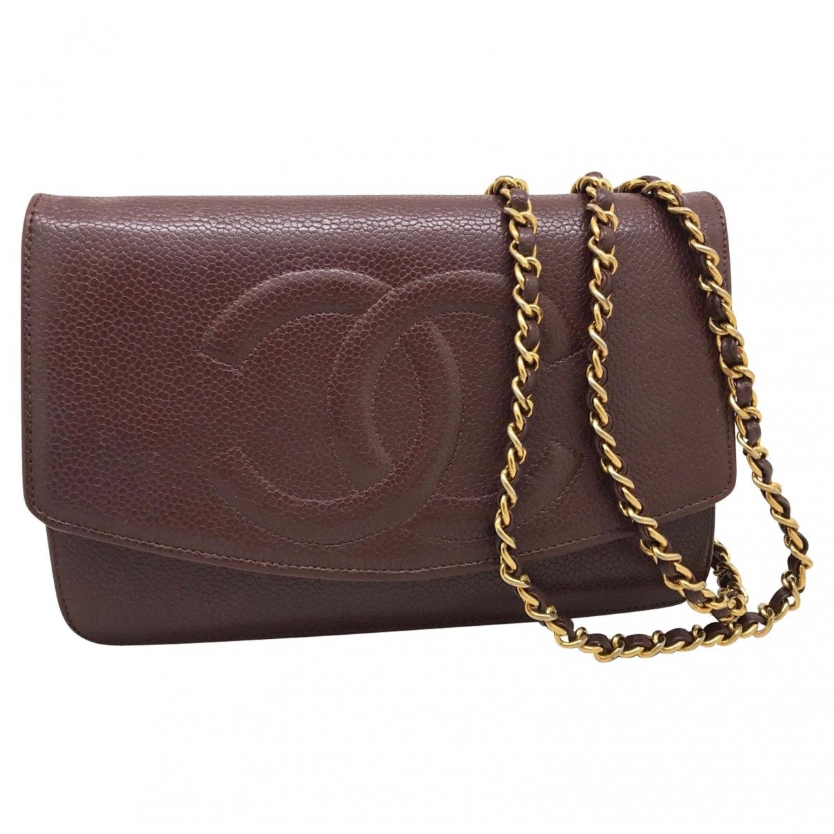 Chanel Wallet on Chain Handtasche in  Braun Leder