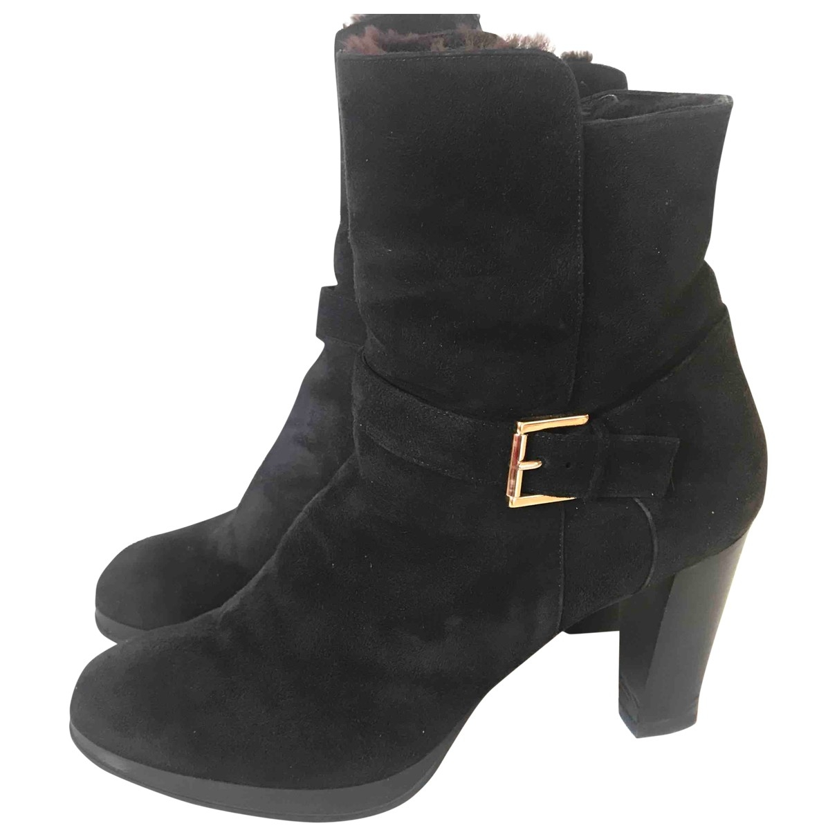 Fratelli Rossetti - Boots   pour femme en suede - noir