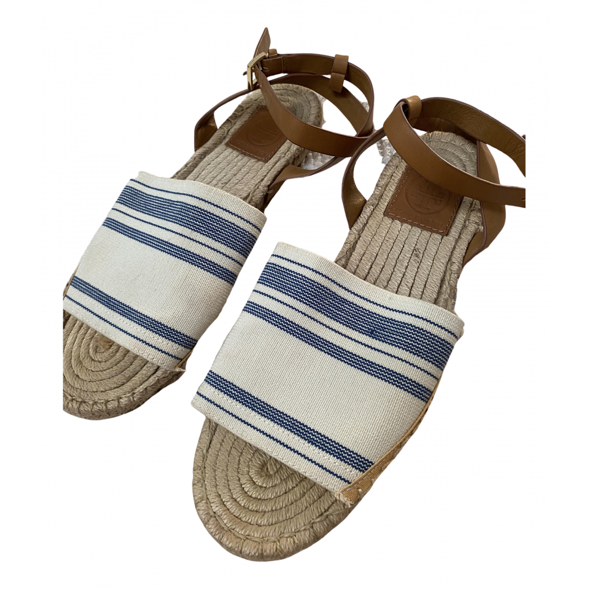 Tory Burch \N White Cloth Sandals for Women 7.5 US
