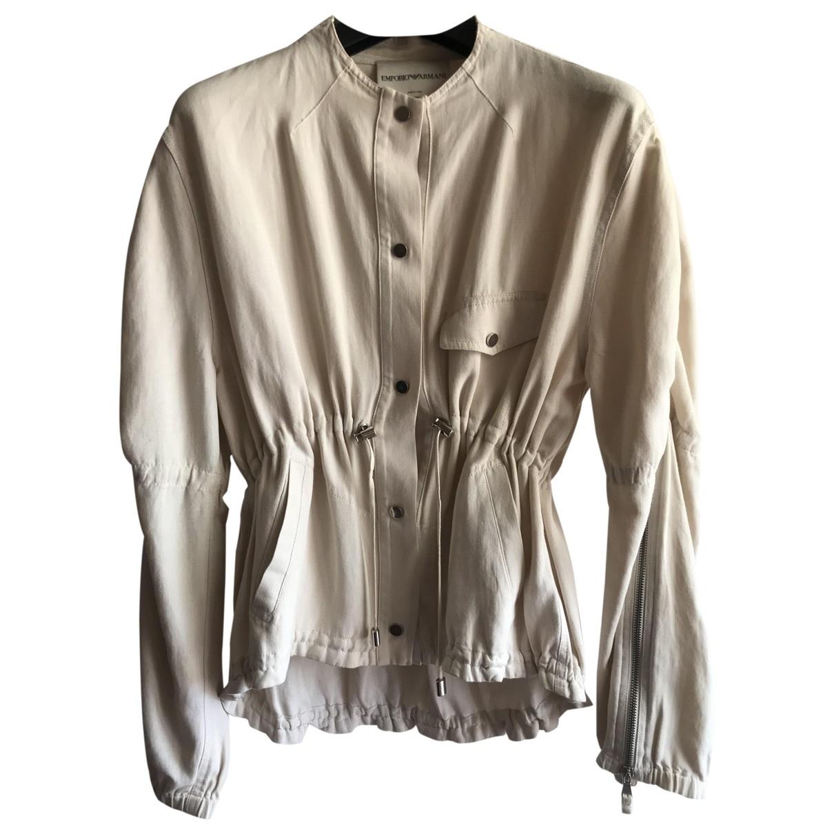 Emporio Armani - Veste   pour femme en lin - beige