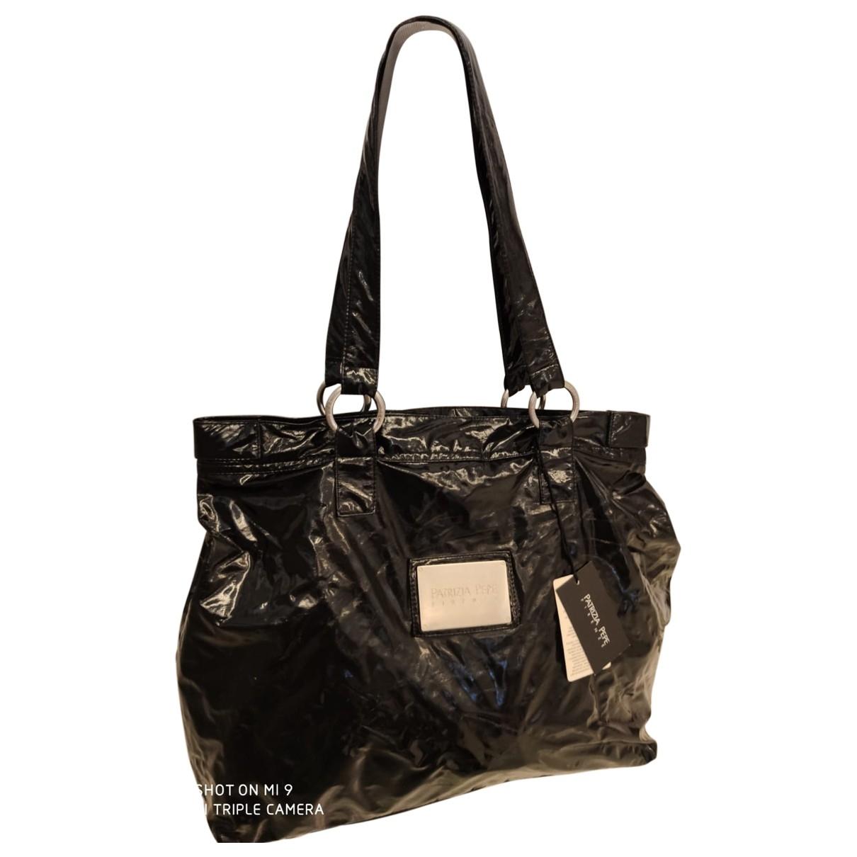 Patrizia Pepe \N Black Patent leather handbag for Women \N