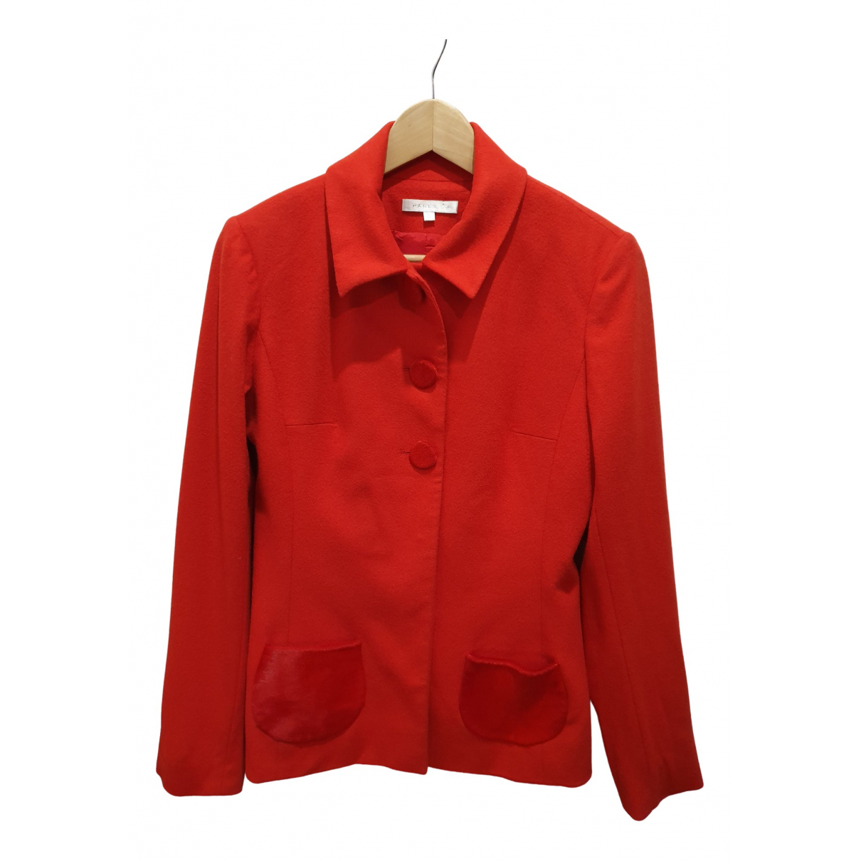 Paule Ka N Red Wool jacket for Women 38 FR