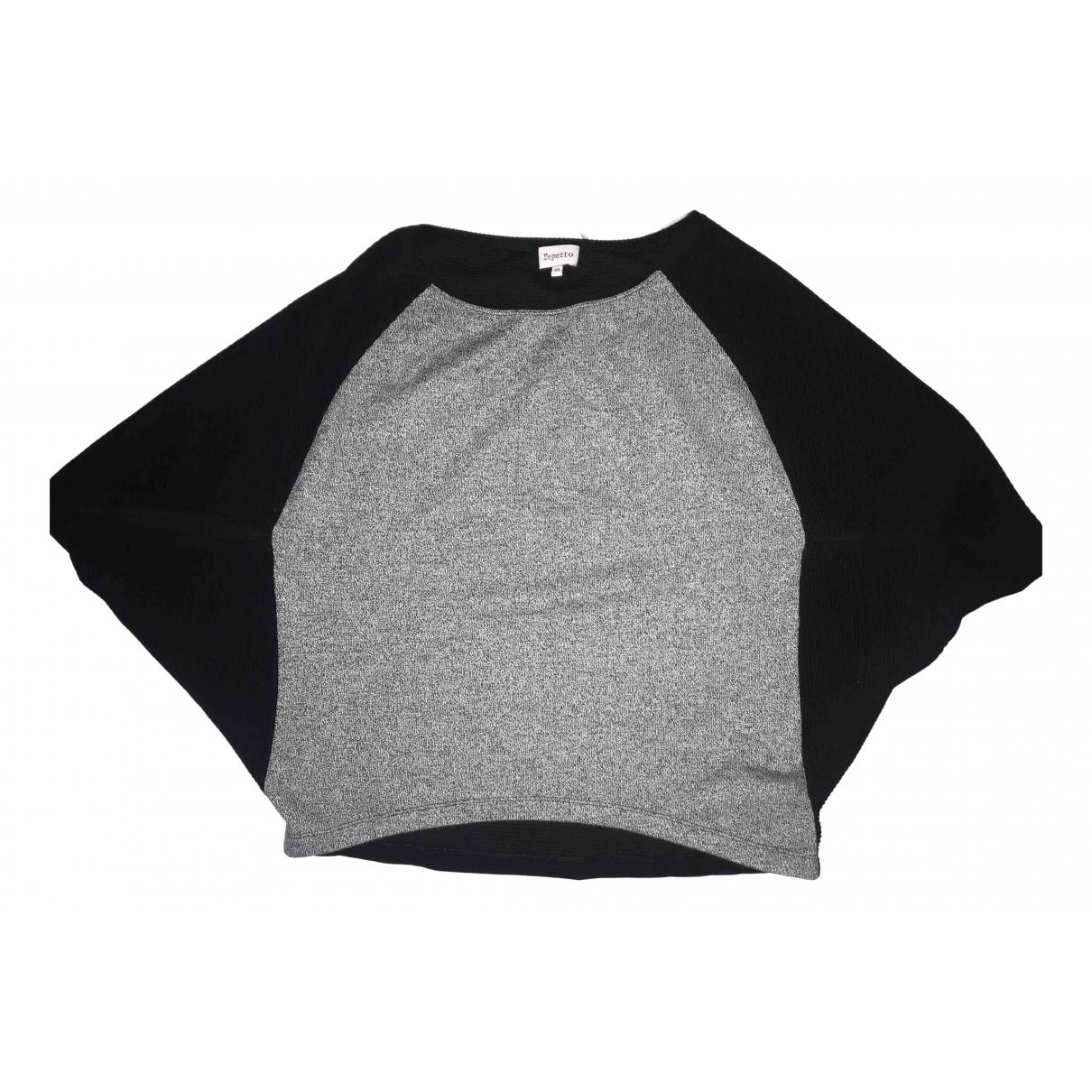 Repetto - Pull   pour femme en coton - noir