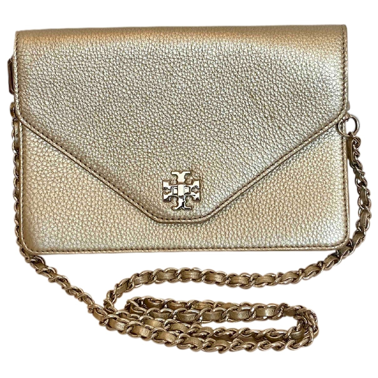 Tory Burch \N Handtasche in  Gold Leder
