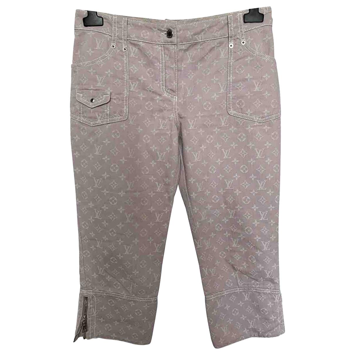 Louis Vuitton \N Pink Denim - Jeans Jeans for Women 42 FR