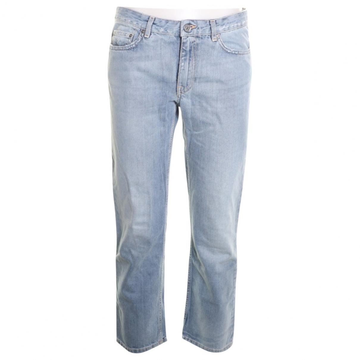 Acne Studios Row Blue Cotton Jeans for Women 24 US