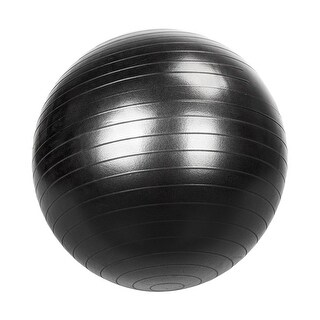 85cm Gym/Household Explosion-proof Thicken Yoga Ball Smooth Surface (Black)