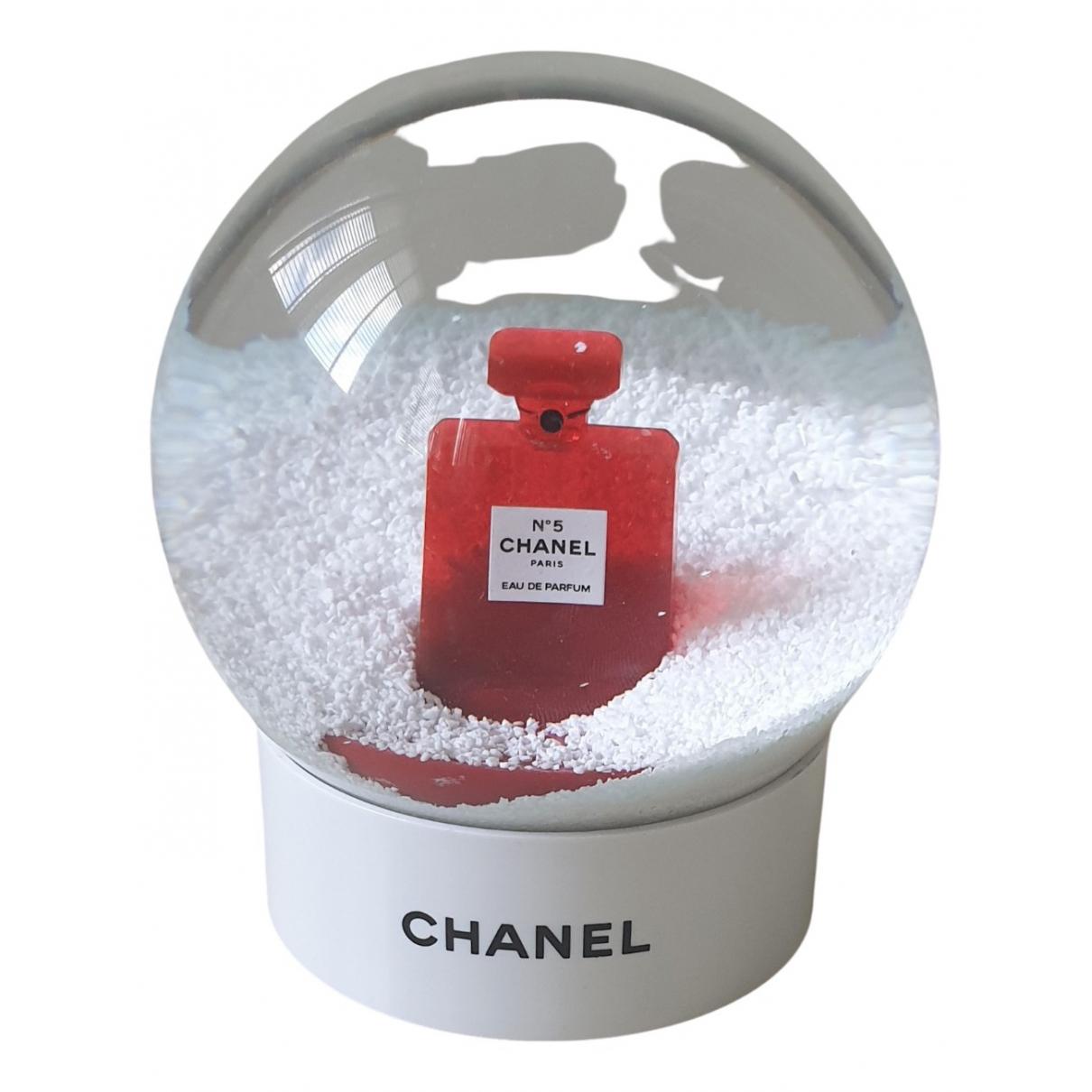 Chanel \N White Glass Home decor for Life & Living \N