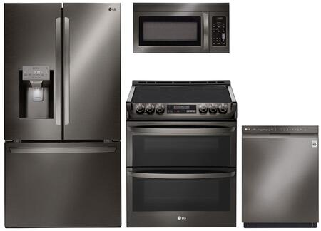 4-Piece Kitchen Appliances Package with LFXS26973D 36