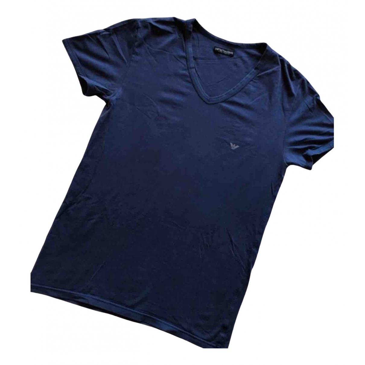 Emporio Armani - Tee shirts   pour homme en coton - violet