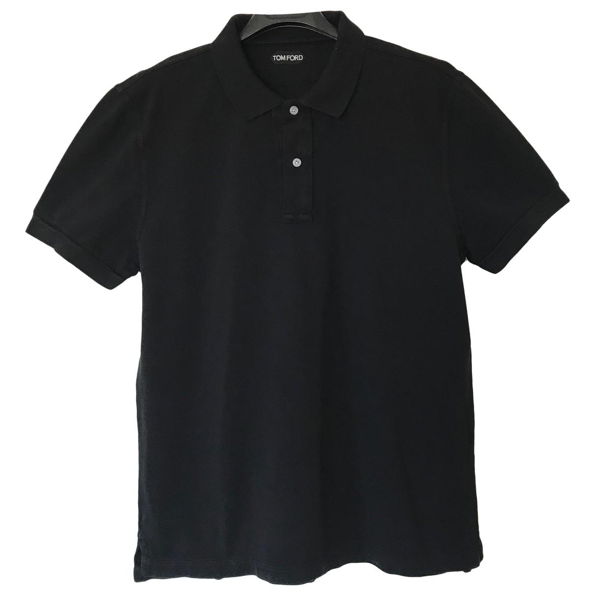 Tom Ford - Polos   pour homme en coton - noir