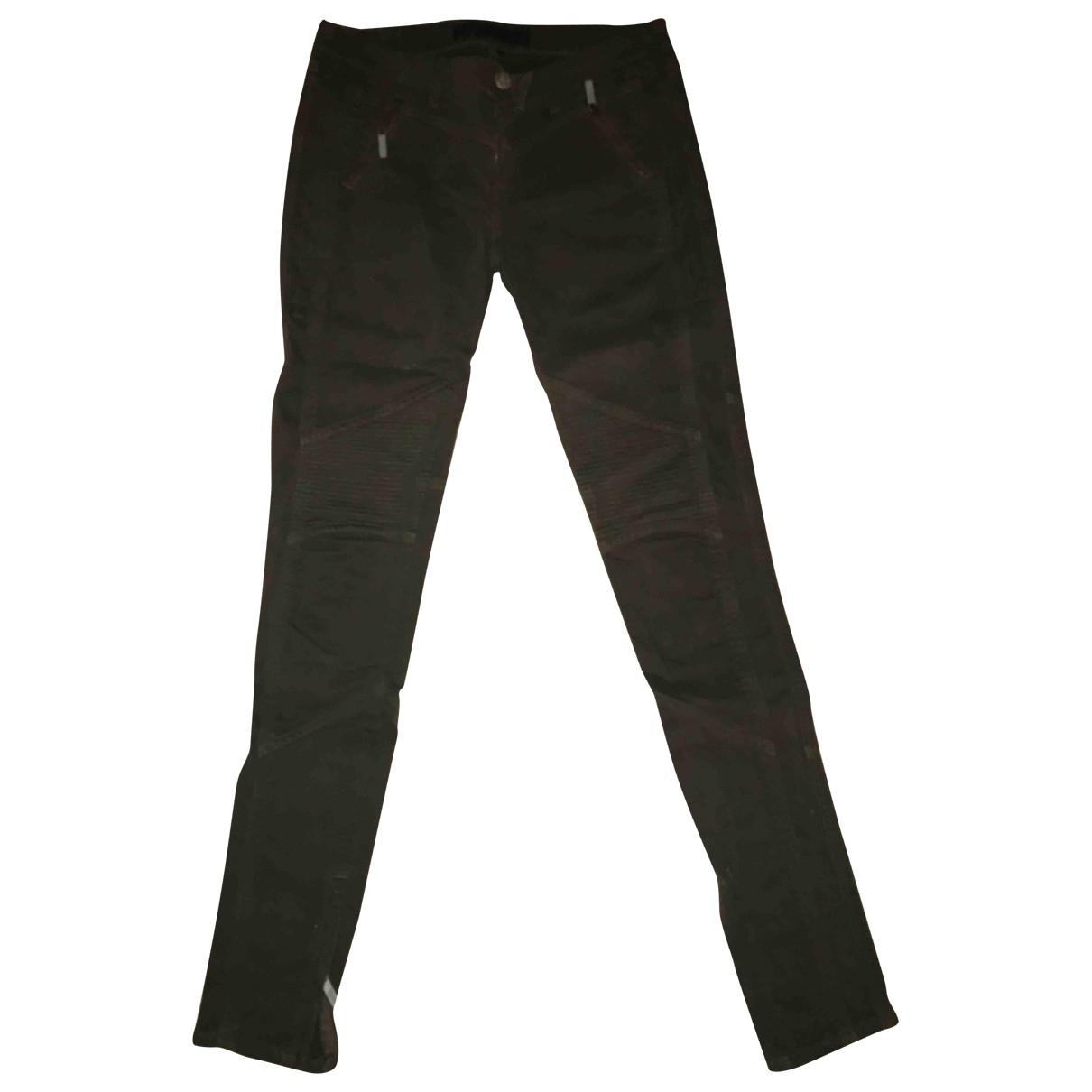 Karl Lagerfeld \N Khaki Cotton Trousers for Women 34 FR