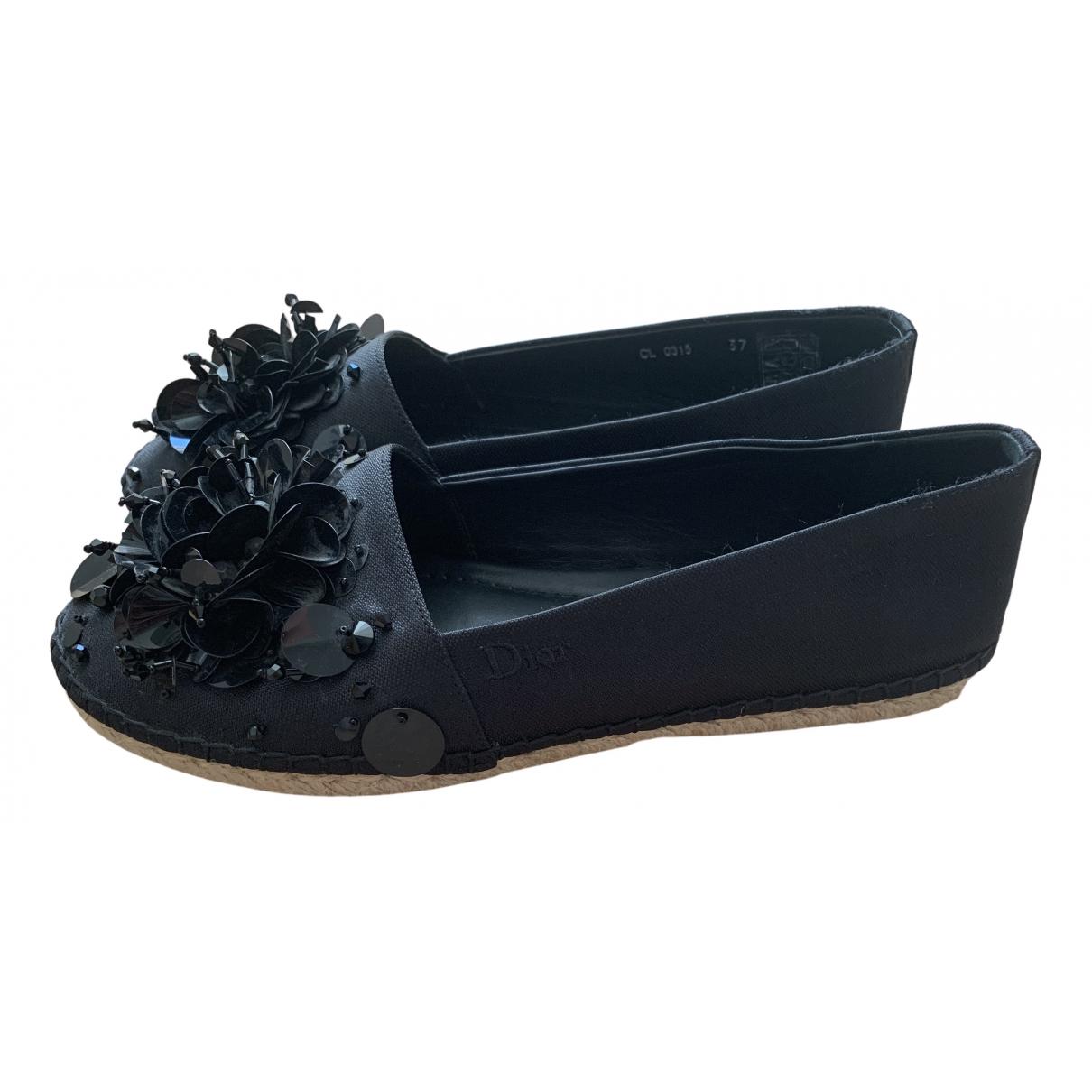 Dior N Black Leather Espadrilles for Women 37 EU
