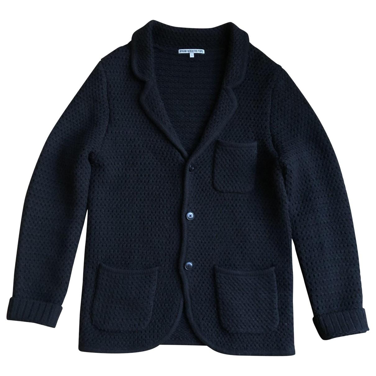 Drykorn \N Jacke in  Schwarz Wolle