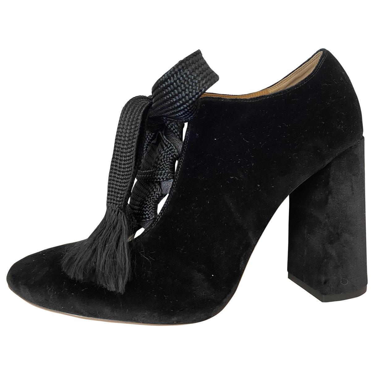 Chloe - Escarpins   pour femme en velours - noir