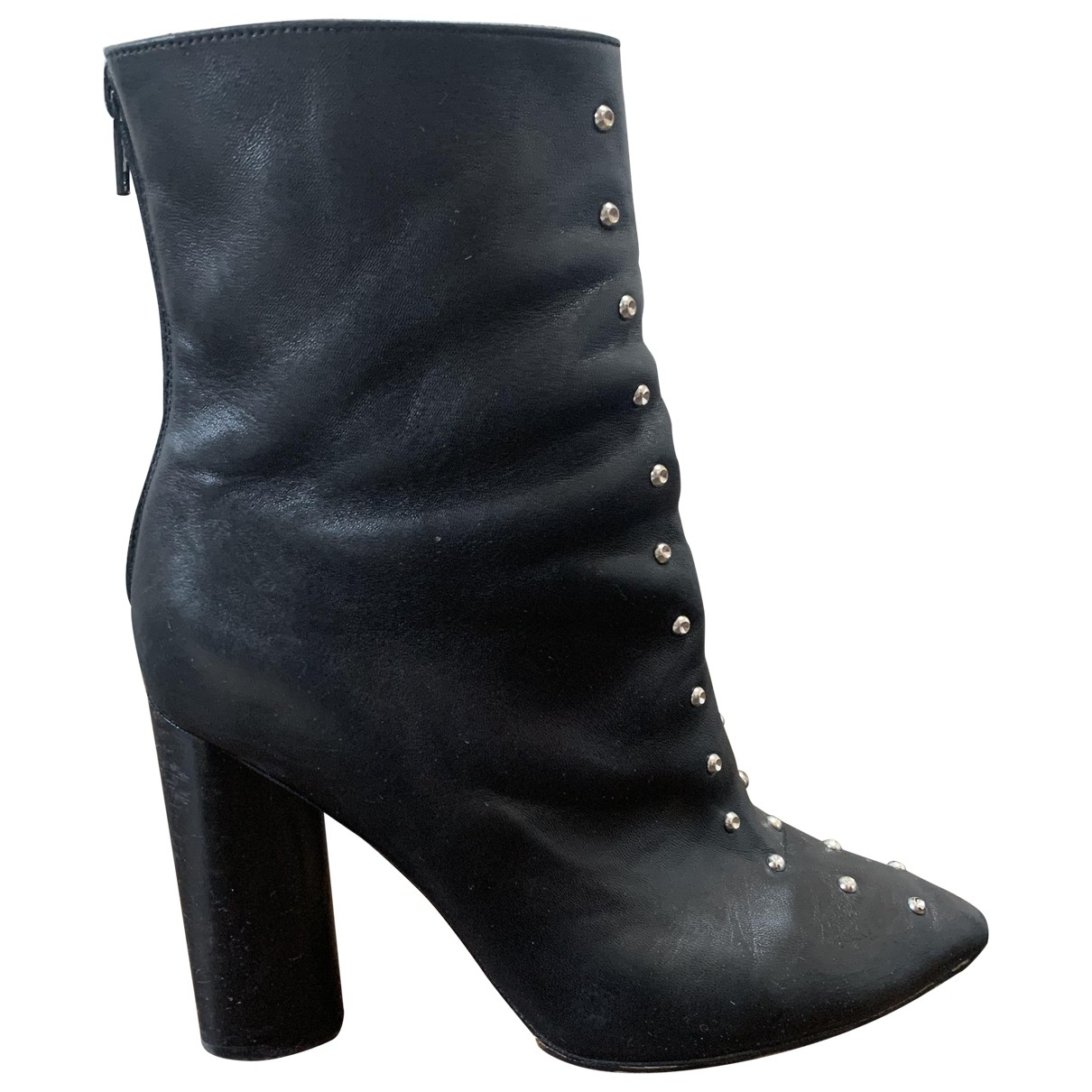 Iro \N Black Leather Ankle boots for Women 39 EU