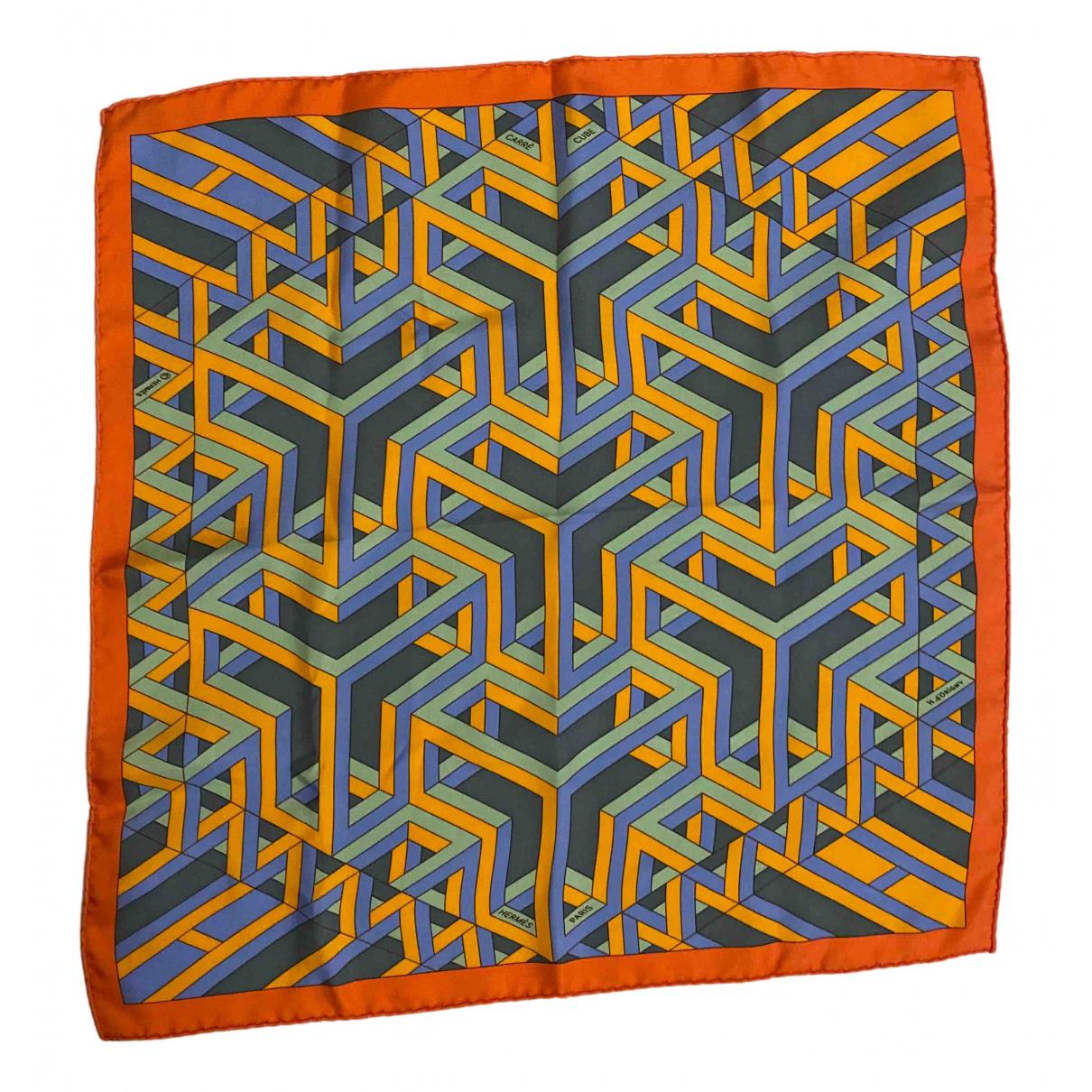 Hermes Gavroche 45 Schal in  Orange Seide