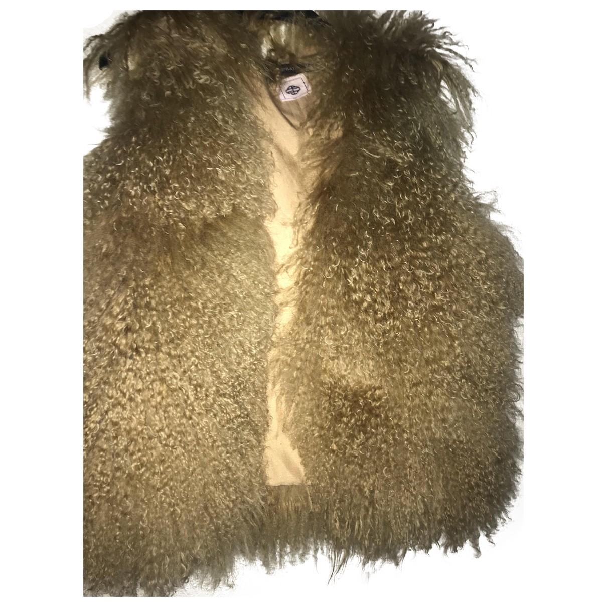 Antik Batik \N Jacke in  Kamel Mongolisches Lamm