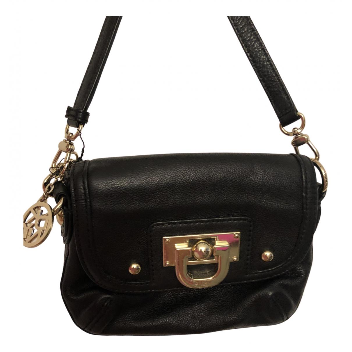 Dkny N Black Leather handbag for Women N