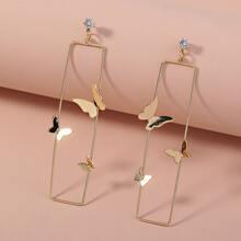 Butterfly Geometric Drop Earrings