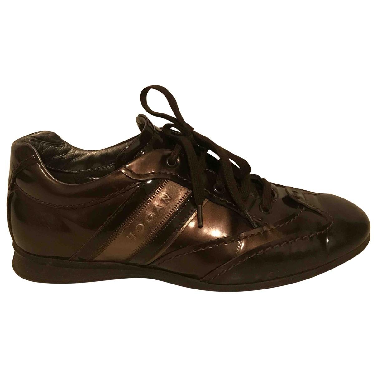 Hogan \N Sneakers in  Braun Lackleder