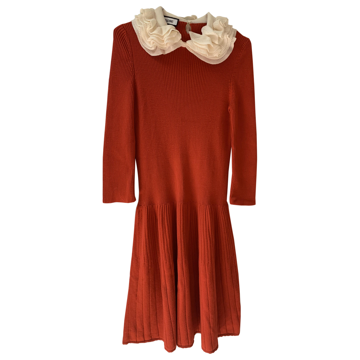 Moschino \N Kleid in  Rot Wolle