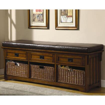 501060 Large Storage Bench With Baskets by