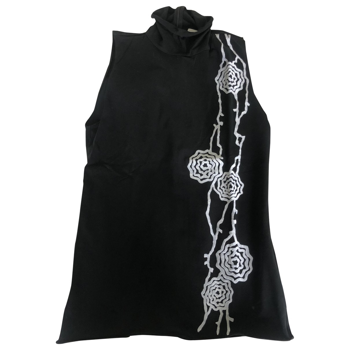 Armani Collezioni \N Black Cotton  top for Women 42 IT