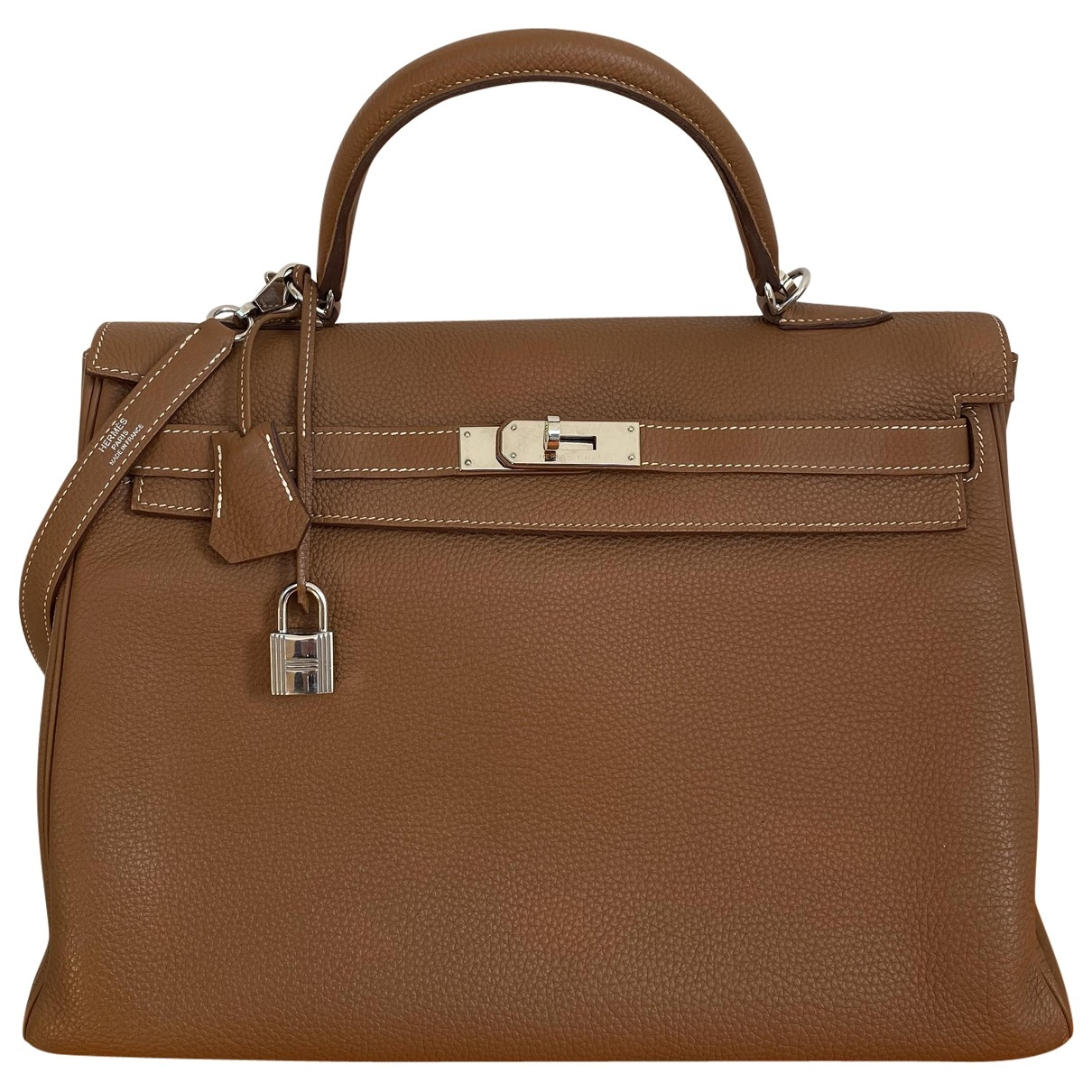 Hermès Kelly 35 Camel Leather handbag for Women \N