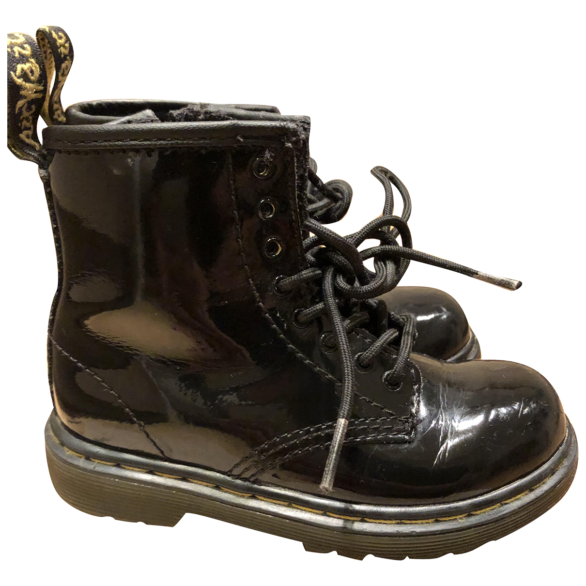 Dr. Martens N Black Leather Lace up boots for Kids 26 FR