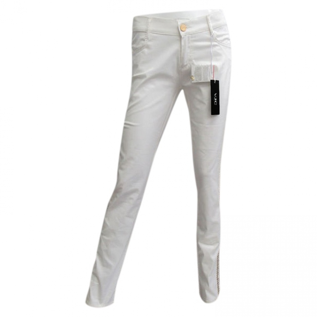 Versace Jeans \N White Cotton Trousers for Women XS International