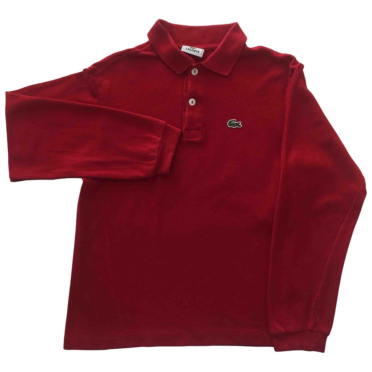 Lacoste \N Oberteile in  Rot Baumwolle