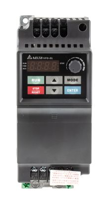 Delta Inverter Drive, 3-Phase In, 0 ? 600Hz Out 0.75 kW, 400 V ac, 3.2 A VFD-EL