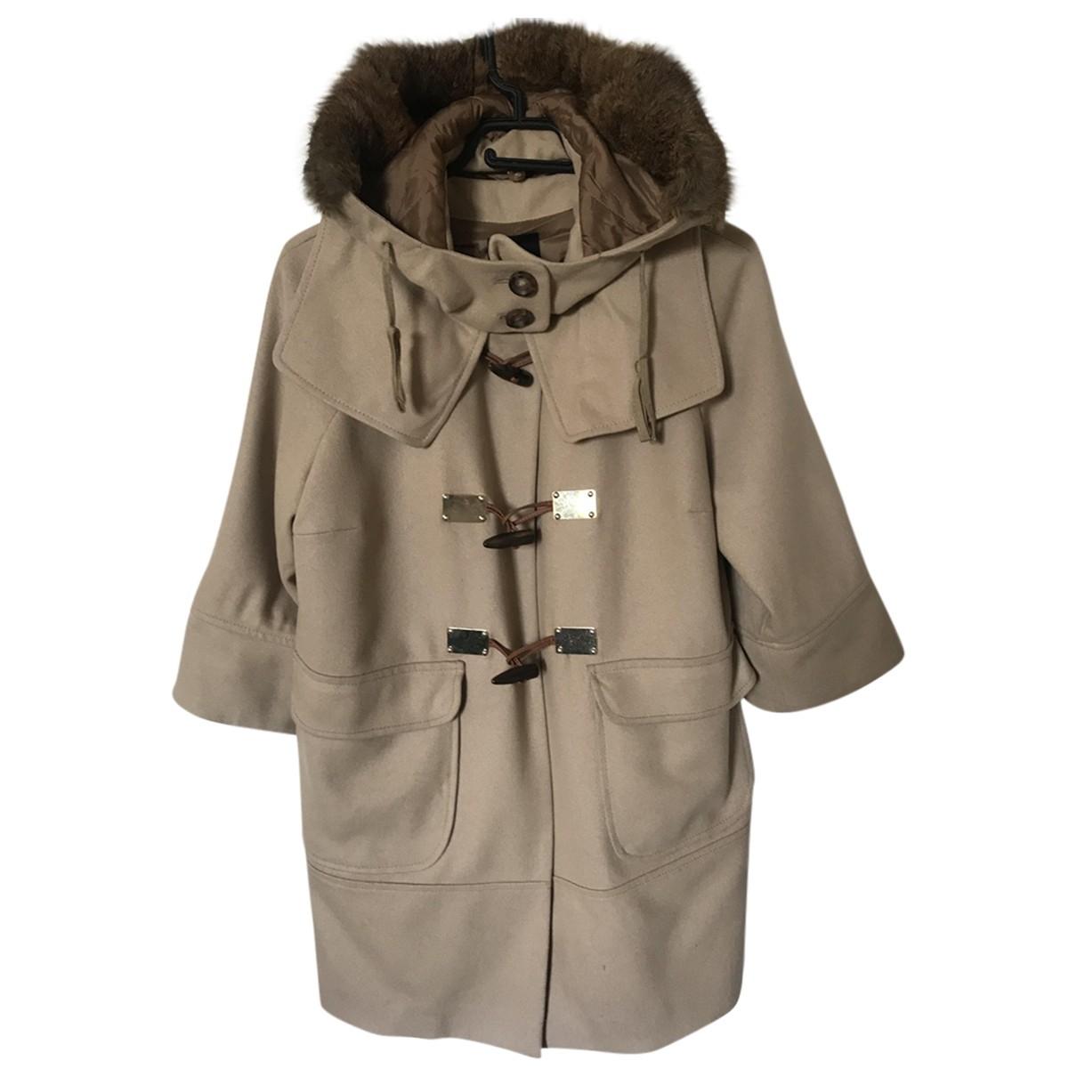 Pinko - Manteau   pour femme en laine - beige