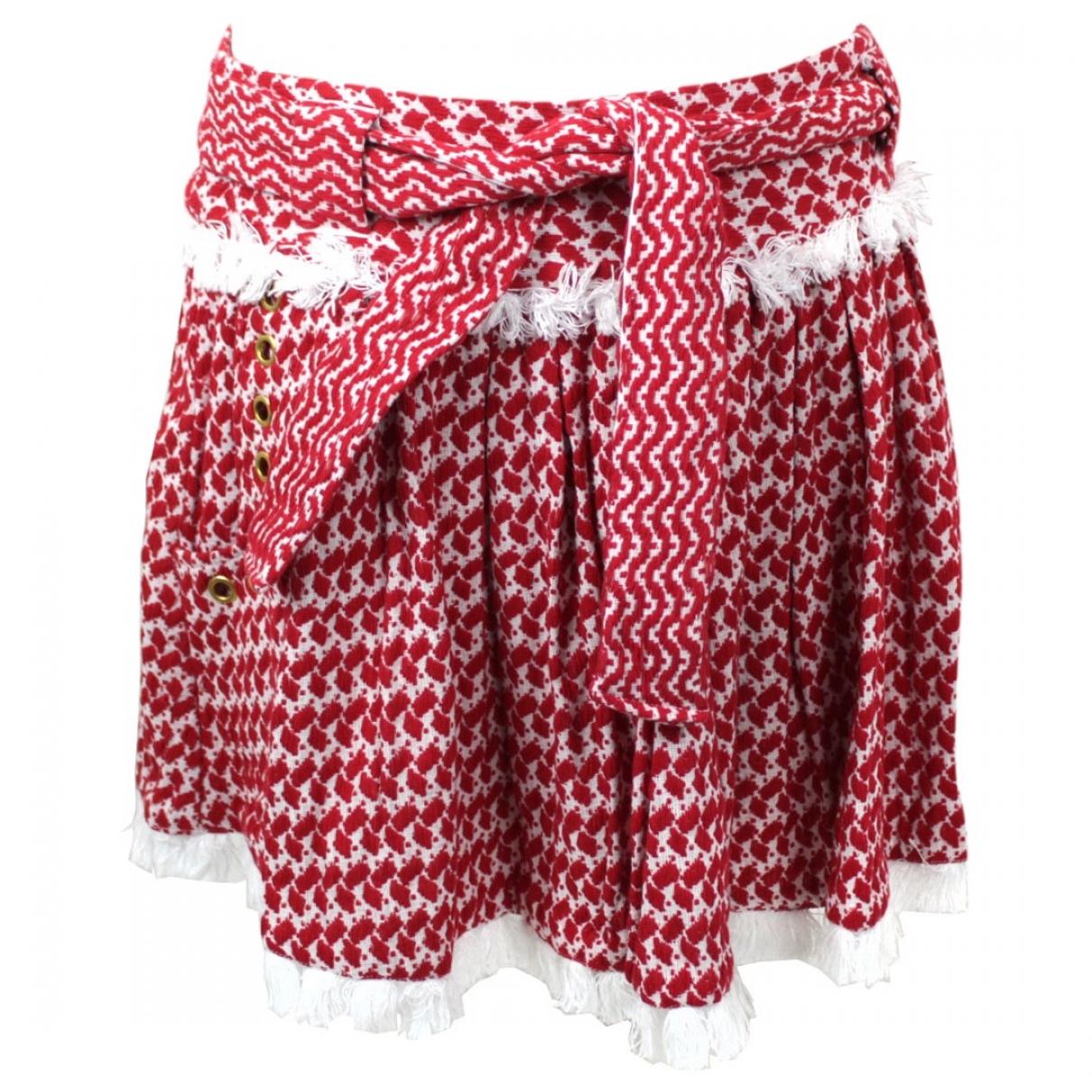 Dodo Bar Or - Jupe   pour femme en coton - rouge