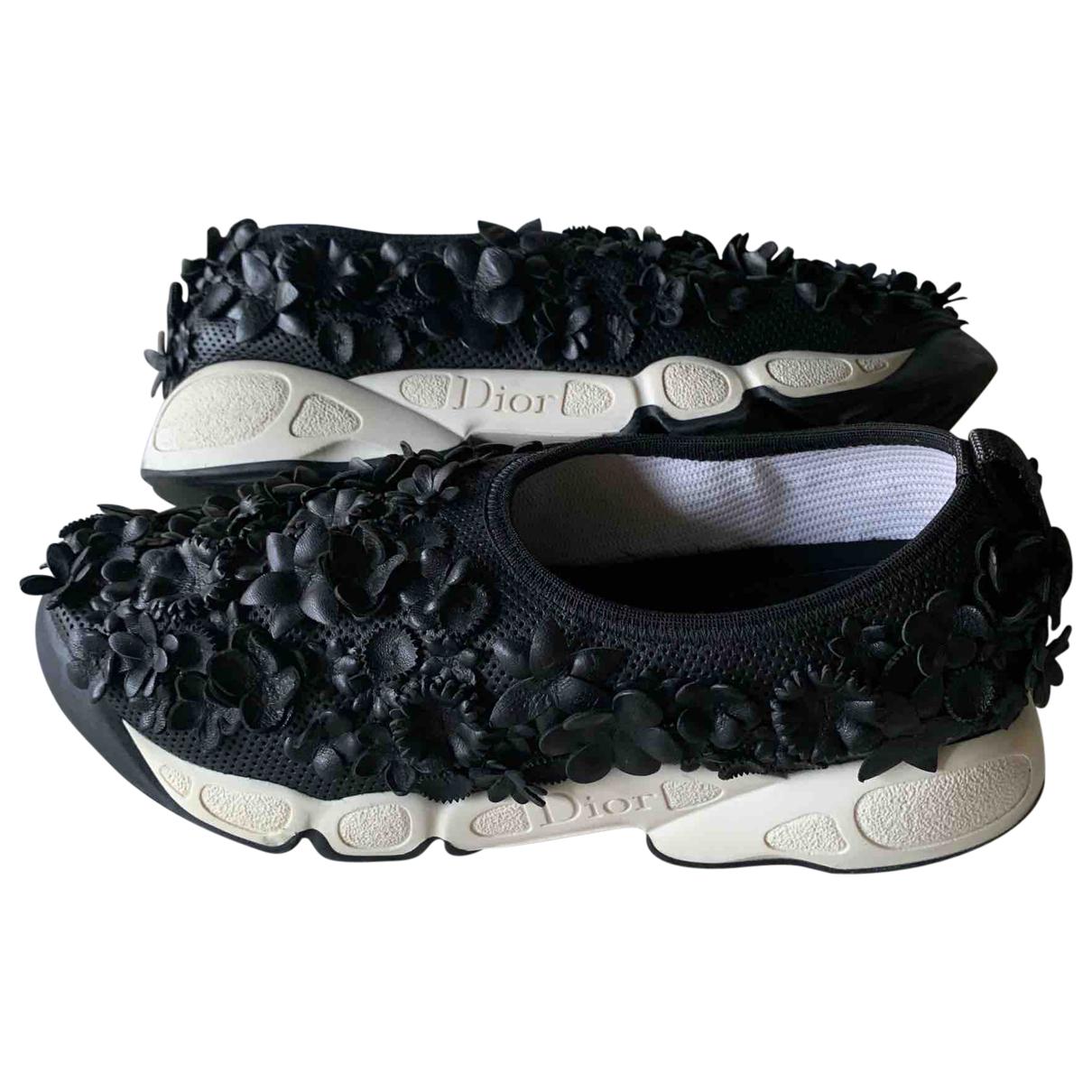 Dior Dior Fusion Sneakers in  Schwarz Leder