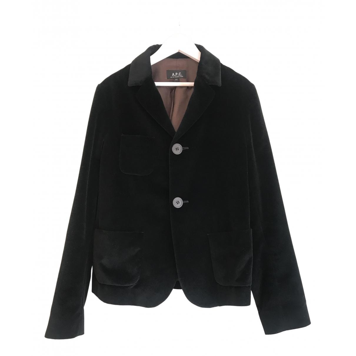 Apc \N Black Velvet jacket for Women 36 FR