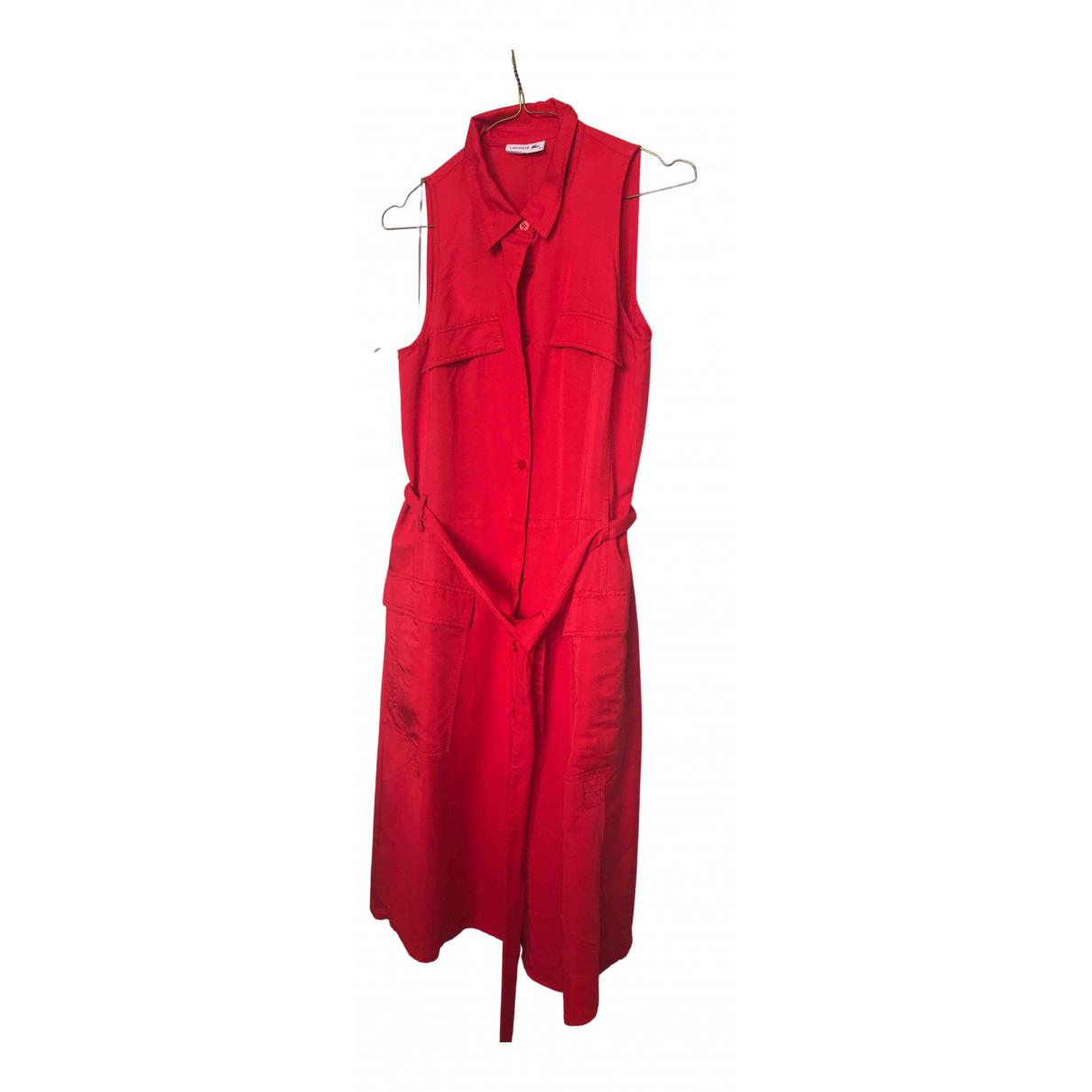 Lacoste \N Kleid in  Rot Viskose