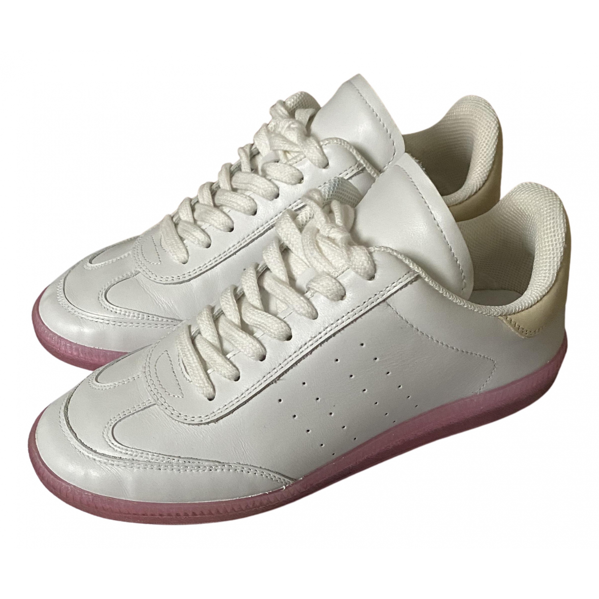 Isabel Marant N White Leather Trainers for Women 37 EU