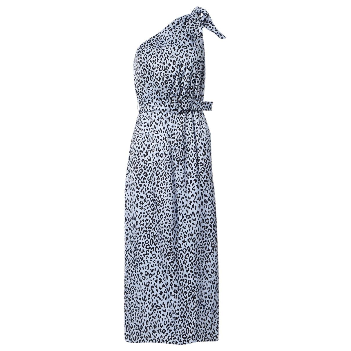 Alessandra Rich \N Kleid in  Blau Seide