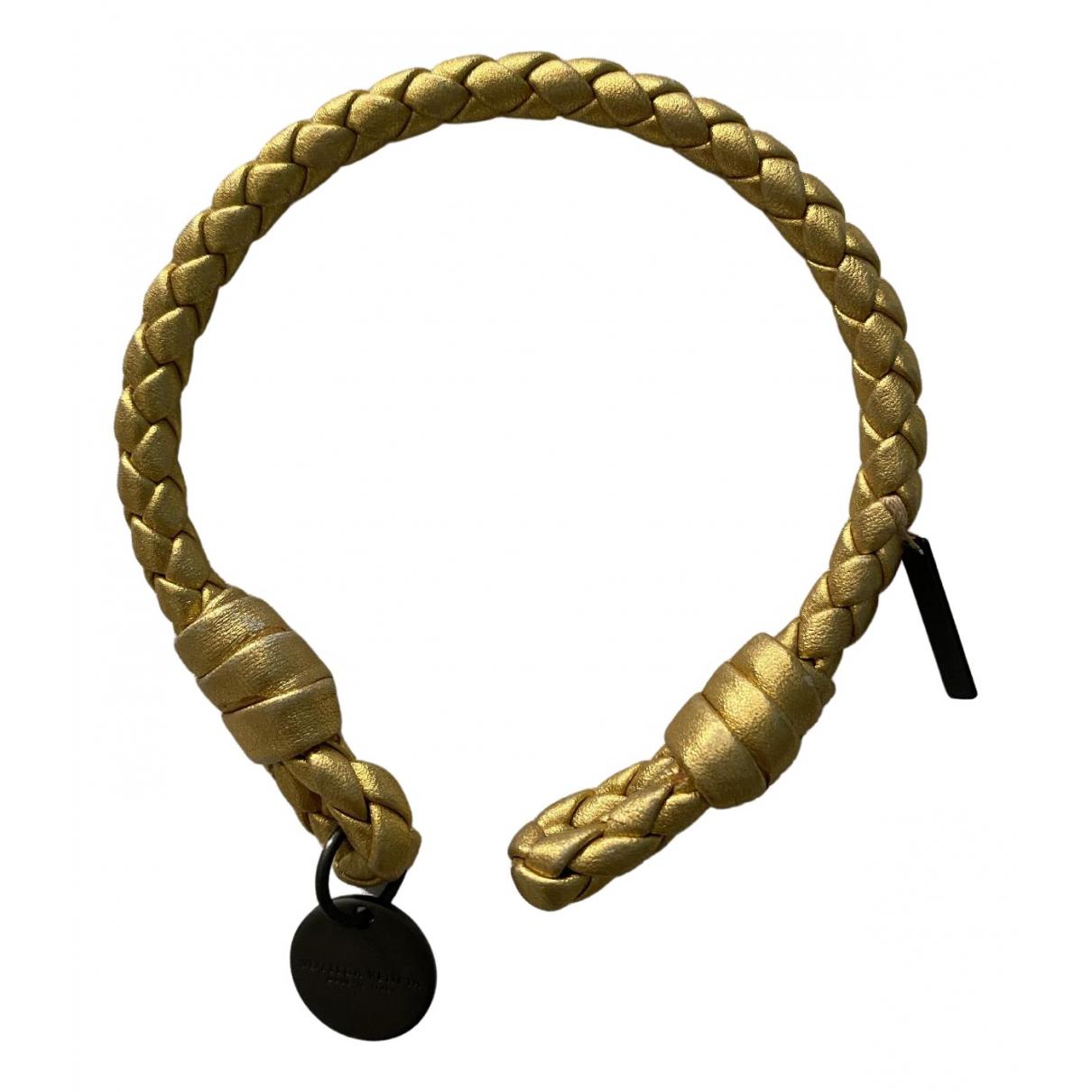 Bottega Veneta \N Gold Leather bracelet for Women \N