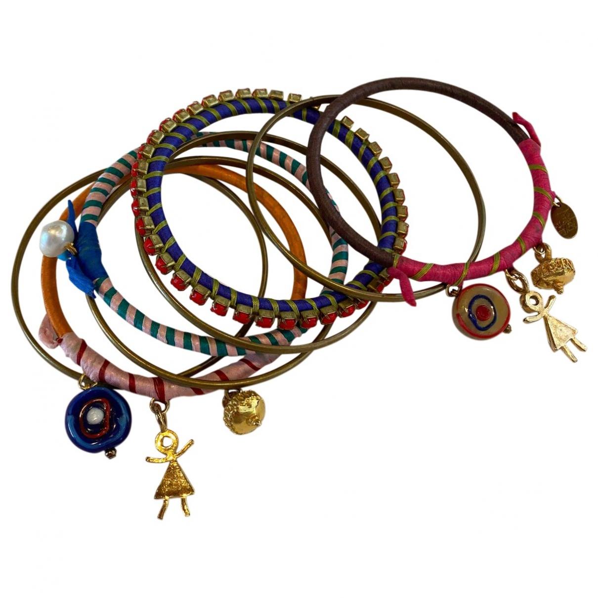 - Bracelet   pour femme en or et acier - bleu