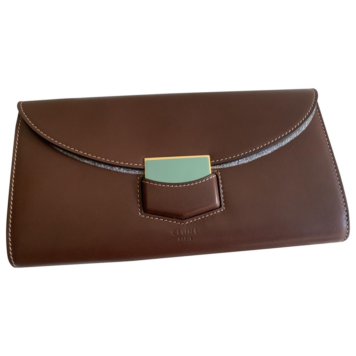 Celine \N Brown Leather wallet for Women \N