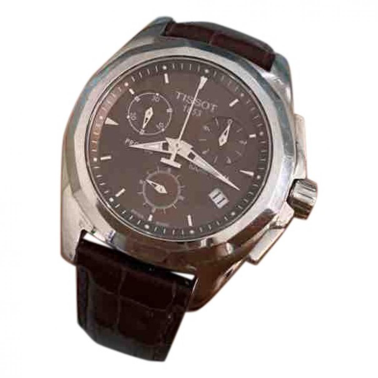 Tissot \N Uhr in  Braun Stahl