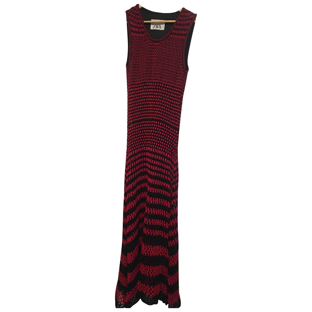 Zara \N Kleid in  Rot Leinen